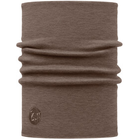 Buff Heavyweight Merino Wool Neck Tube, solid walnut brown